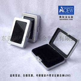 创意长方形透窗不锈钢首饰盒 首饰礼品盒 厂家直销