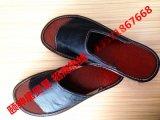 夏季居家拖鞋防滑情侶室內地板家居真皮拖鞋男女涼拖牛皮
