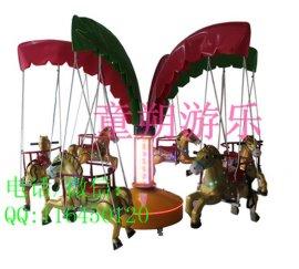 户外**的折叠转马  儿童12座折叠转马
