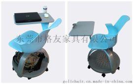 格友家具PCF-041T塑料帶寫字板培訓椅廠家批發高檔塑料培訓椅
