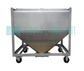 600L可移动粉末储存容器/304不锈钢储存罐/容器