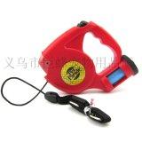 帶LED/垃圾袋寵物牽引器 自動伸縮狗繩 遛狗器JF-QM552