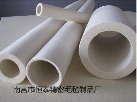 专业生产大小规格的毛毡筒 羊毛辊筒(图)恒泰毛毡