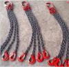 起重鏈條吊索具 G80錳鋼鏈條組合吊索6.4噸4腿2米 2T吊鉤 可定制