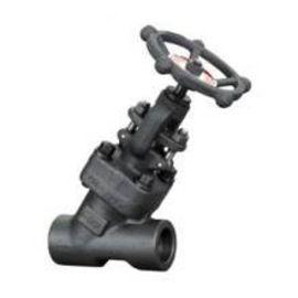 高压锻打国标螺纹与承插焊Y型截止阀J11H/J61HDN15 20 25 032 50