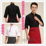 新款厨师服长袖白色厨房服装男酒店厨师长秋冬装西餐厅工作服定做