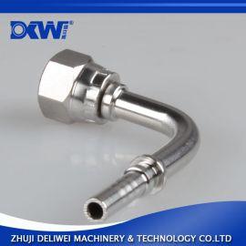 英制内螺纹平民胶管弯头90度角高压编织软管矿用运输液压