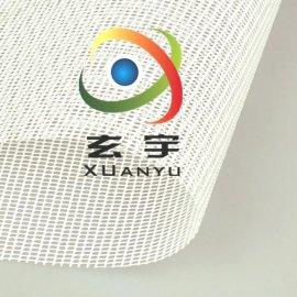 现货供应1.4米宽度黑白箱包隔层网布 PVC网格布