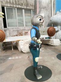 销售疯狂动物城角色人物警官兔朱迪玻璃钢雕塑