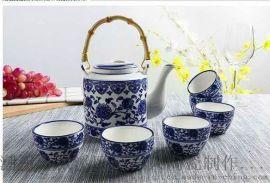 青花提梁壶陶瓷大茶壶