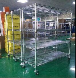 定制镀铬层架工业线网货架小推车物料车碳钢置物架