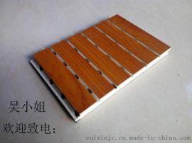 槽木吸音板隔音材料厂,瑞鑫槽孔木质吸音板