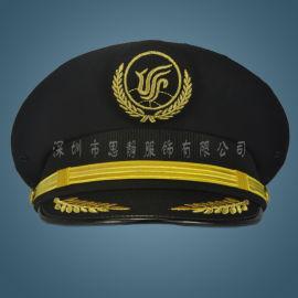 航空机长大盖帽飞行员帽子国航航空学员帽
