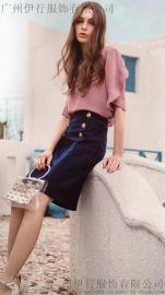 **剪标货源慕拉韩版连衣裙品牌女装折扣分份