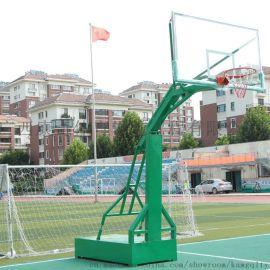 广西政府 学校项目用到的绿色篮球架供应厂家