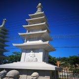 佛塔舍利塔 廟宇石雕石塔 古建築多層寶塔擺件