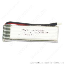 高倍率电动玩具电池701855 500mAh