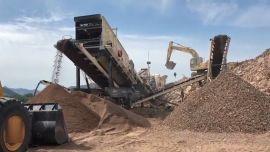 环保达标矿山设备-破碎和分选设备-反击式移动破碎机