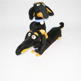 腊肠狗动物毛绒玩具可来图打样设计定做logo