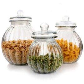 小号南瓜密封罐 玻璃储物罐 茶叶罐许愿瓶