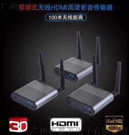 100米1发2收无线HDMI高清影音传输器