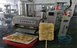 兰花干油炸设备 豆腐串油炸机 油炸豆腐串流水线