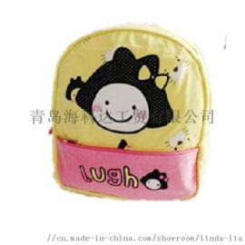 韩版外贸婴幼儿背包卡通书包防走失儿童双肩包