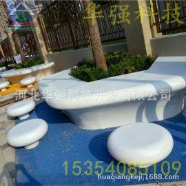 大型白色树池座椅北京天津环树座椅坐凳河北厂家定制围树座椅坐凳