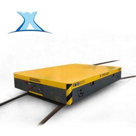 大噸位載重遙蓄電池轉彎電動平板車智慧電梯轉運無動力軌道車