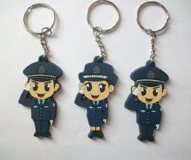 灭火器钥匙扣 消防礼品卡通钥匙扣定制