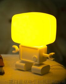 **外观专利 机器人智能声控光控感应小夜灯 led小夜灯创意