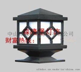 广场园林道路柱头灯|柱子灯石墩灯定做批发|柱头灯围墙灯|仿云石草坪灯|亚克力灯罩