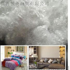 3d*51mm涤纶短纤维 PP棉 珍珠棉 公仔棉沙发靠垫填充棉