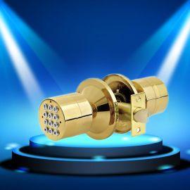 金色球形免钥匙智能密码锁 锌合金外贸电子锁 密码锁