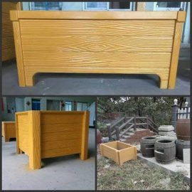 园林景观、市政工程、水泥仿木垃圾桶户外用品