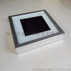 20CM正方形太阳能LED地砖铝合金外框钢化玻璃