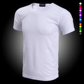 定制新款速幹運動料圓領短袖T恤衫透氣戶外工作服學生會班服訂做