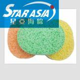 圆形木浆棉粉扑 清洁专用纤维海绵擦 木浆海