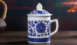专业定制陶瓷杯子 景德镇老款茶杯批发 会议用品茶杯