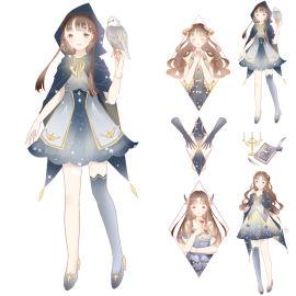 来图定制特油烫金人物少女神、奇思妙想天使和纸胶带