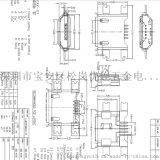 MICRO沉板1.6母座四腳 5P母座B-破板式SMT全貼-貼板卷邊ph=11.0