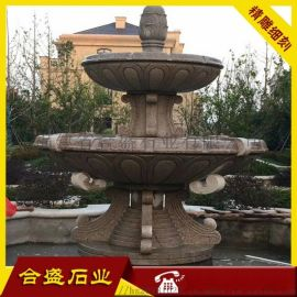 房地产装饰喷水水景 大理石水钵喷泉 景观喷泉摆件
