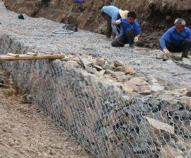 河滩治理宾格笼护垫&地面修整雷诺护垫|
