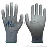 星宇劳保手套PU518防静电彩尼龙PU防护手套 耐磨触感好
