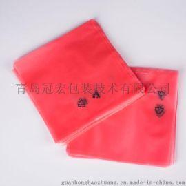 防静电袋定做 平口红色透明 pe 电子元器件 主板包装袋