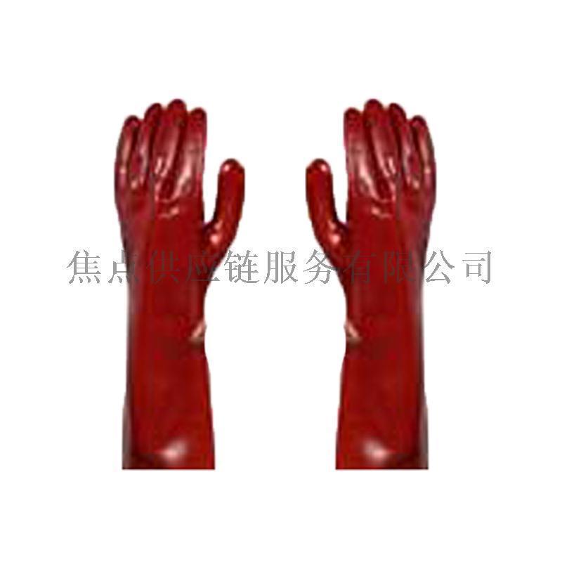 霍尼韋爾Honeywell PVC浸膠長袖防化勞保手套BC2105045