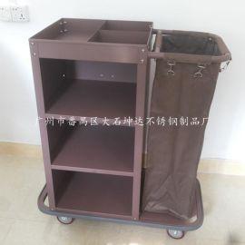 优惠款 钢板烤漆单边客房服务车 可拆装房口车 手推式布草车