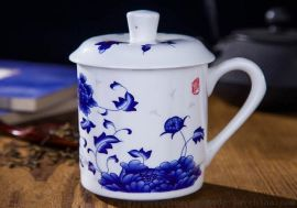 定做陶瓷水杯厂家直销量大从优 景德镇杯子厂家 景德镇陶瓷厂