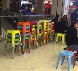 咖啡馆吧台吧椅 美式高脚桌椅 新款星巴克桌子椅子 凯隆工艺品直销优势