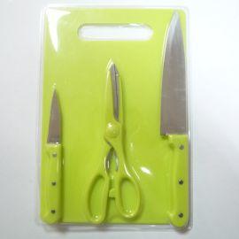 全彩   4件套双面吸塑  小三眼钉柄小菜板套刀 多功能刀具直销厂家直销商务赠品
